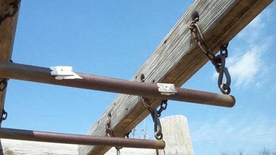 Razor blades found attached to playground equipment in East Moline, Illinois