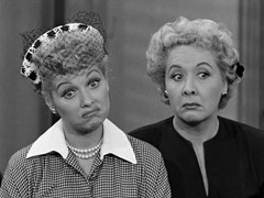 Lucille Ball with Ethel Merman in I Love Lucy