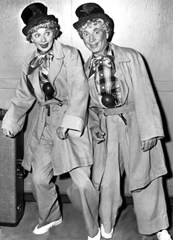 Lucile Ball with Harpo Marx