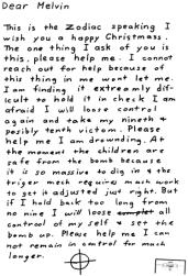 Letter sent to Melvin Belli on December 20, 1969 (postmarked San Francisco)