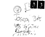 Envelope from Bates letter mailed to Joseph Bates (victim's father) on April 30, 1967 (postmarked Riverside, California)