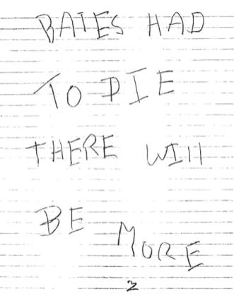 Bates letter sent to Riverside Press-Enterprise on April 30, 1967 (postmarked Riverside, California)