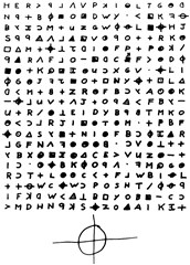 Encrypted message from the Zodiac Killer