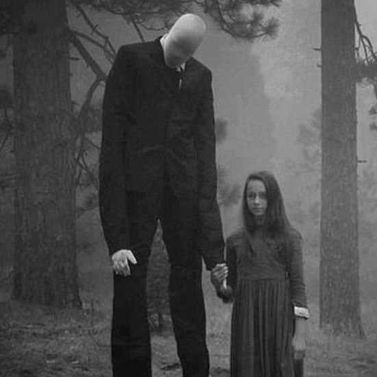 Slenderman steals small children in the night