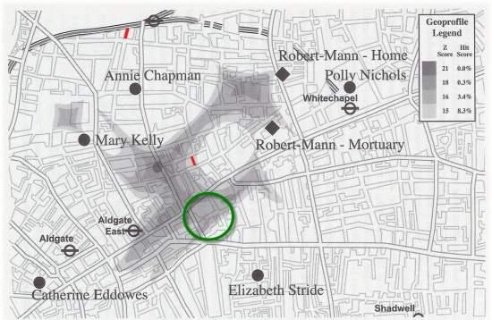 Geoprofile map suggests Kosminski was Jack the Ripper