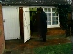 Workshop (garden shed) behind the home of Alistair Beckham is where his electrocuted body was found
