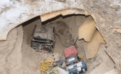 Items, including a generator, were found inside the tunnel