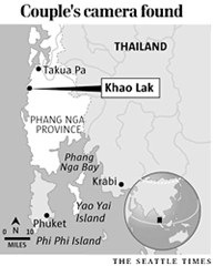 Map showing the location of Khao Lak in Thailand
