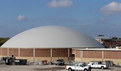 A FEMA dome constructed in east Texas