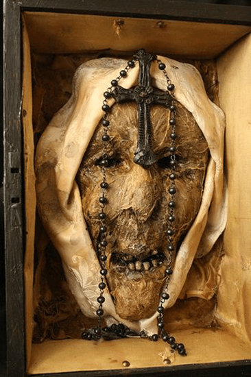 """This head is reported to be the disembodied head of a """"possessed"""" nun."""