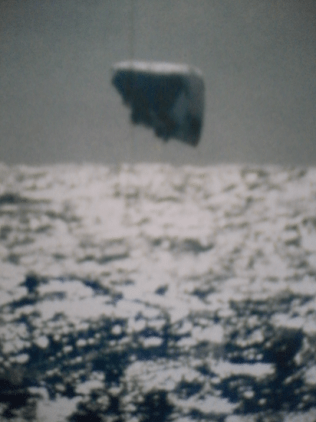 Submarine USS Trepang UFO photo - triangle-shape UFO