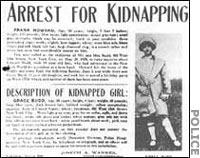 Newspaper headlines in the Albert Fish murder case