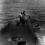 George Bush Sr. - being rescued at Chichi Jima during World War II