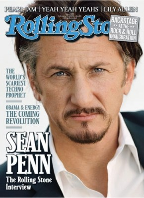 Sean Penn cover of Rolling Stone magazine