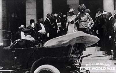 Archduke Franz Ferdinand and wife Sophie before assassination