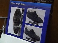 Size 12 Bruno Magli shoes shown as evidence in trial - OJ denies owning such shoes
