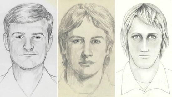 Police sketches of the East Area Rapist (EAR), the Golden State Killer, Original Night Stalker (ONS)