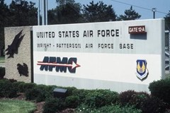 Gate 12-A of the Wright Patterson Air Force Base