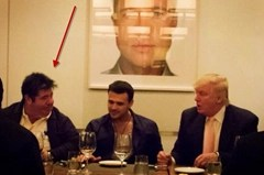 Rob Goldstone to the left of Emin Agalarov and Donald Trump