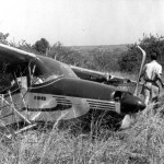 Wreckage of Ernest Hemingway's first airplane crash
