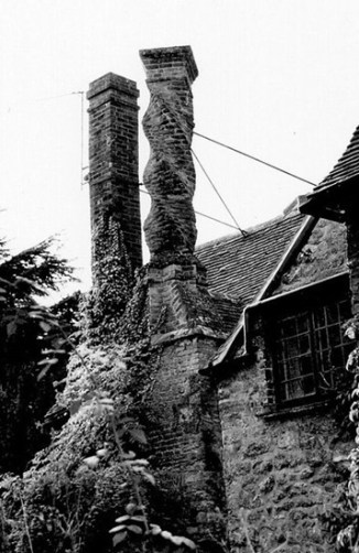 Household chimney in Victorian England