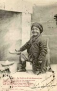 Young chimney sweep in Victorian England