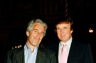 Jeffrey Epstein with Donald Trump