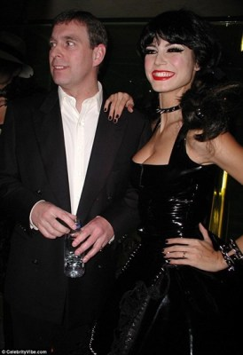 Prince Andrew with famous madam hooker Heidi Klum