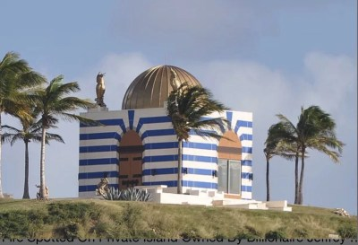 Bizarre temple-like structure on Epstein's Little St. James island