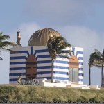 Bizarre temple-like structure on Epstein's Little St. James island