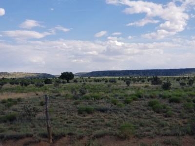 Jeffrey Epstein New Mexico Ranch - Northwest view (home on distance plateau)
