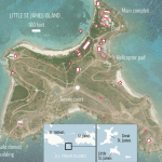 Map of Jeffrey Epstein's Little St. James island