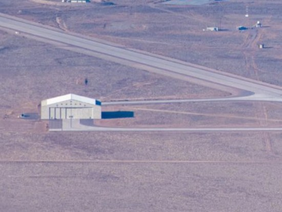 New hanger near runway at Area 51 base - December 2020
