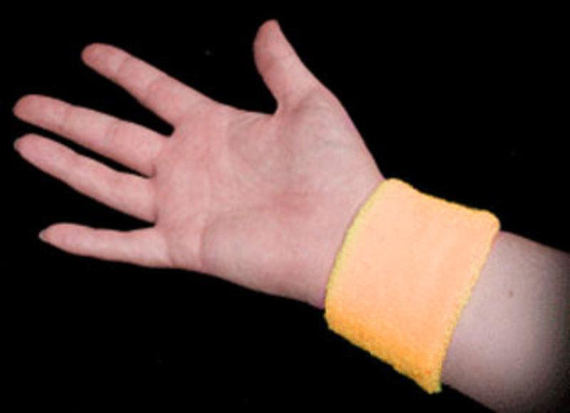 Neon Sweatbands - Orange (Image on Wrist)