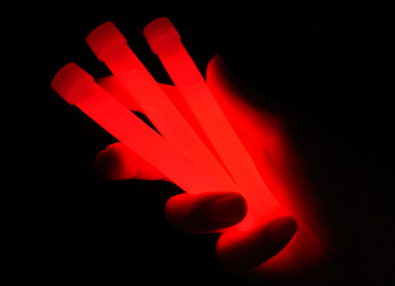 "6"" Glow Sticks with Lanyard - Red"