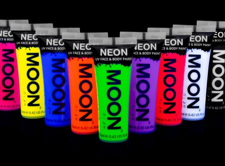 UV Neon Face & Body Paints in various colours