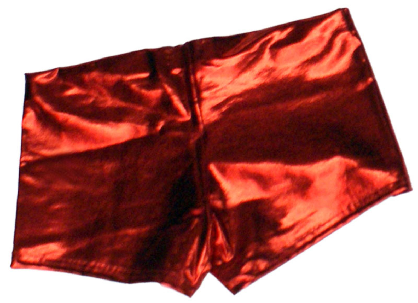 Metallic Hotpants - Red
