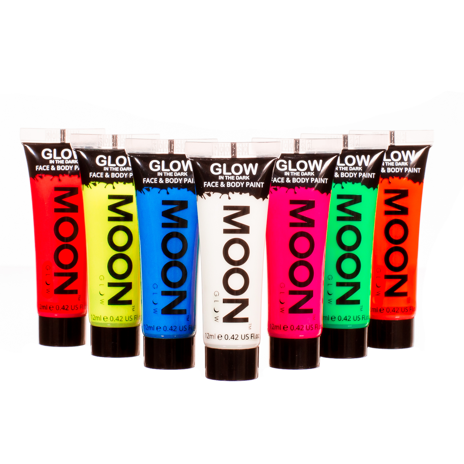 Glow In The Dark Face Paints 12ml Tubes