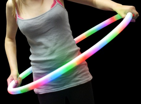 "LED Flashing Hula Hoop 27"" with Model"