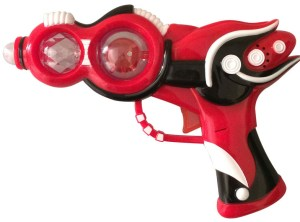 Flashing Space Blaster Gun - Red / White
