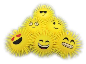 Flashing Emoji Puffer Balls