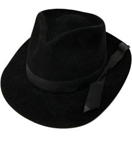 Black Trilby Hat Fedora Hat