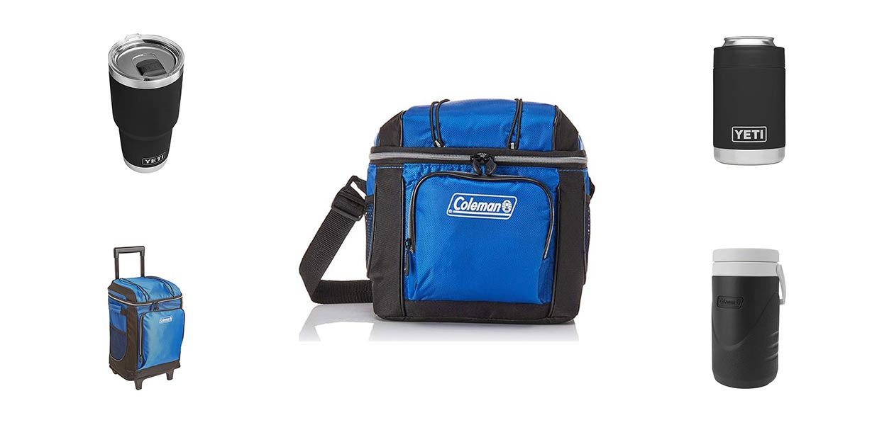 Small Ice Chest Coleman 9-Can Soft Cooler Camping Portable Blue