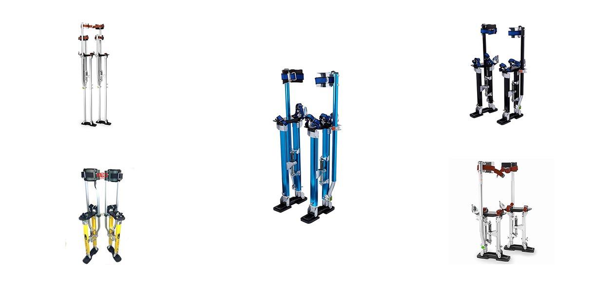 "Aluminum Drywall Stilts Pro 24/"" 40/"" Sturdy Stand Professionals Lightweight USA"