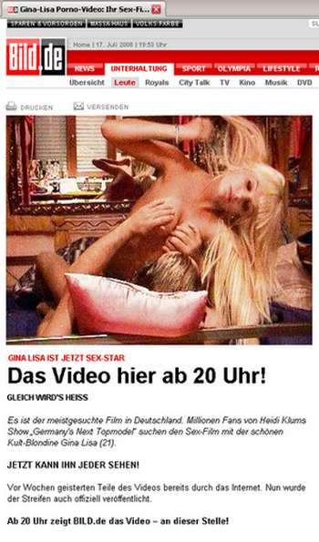 Gina Lisas Porno - live auf Bild.de! Ja nee, is klar.