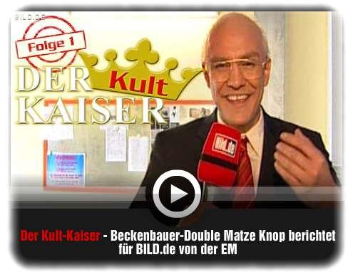 Matz Knop als Kult Kaiser für BILD [c] bild.de