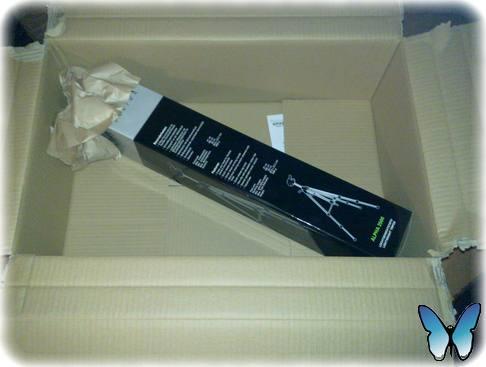 Dreibein-Stativ - Verpackungskunst a la Amazon