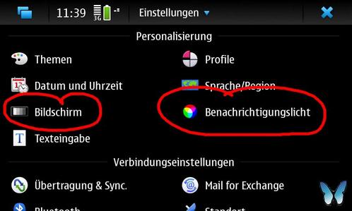 Nokia N900 Personalisierung