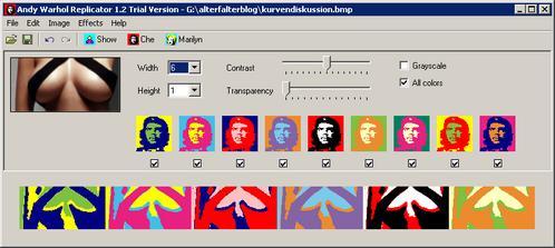 Andy WarholReplicator - hübsche Foto-Freeware bei Foto-Freeware.de