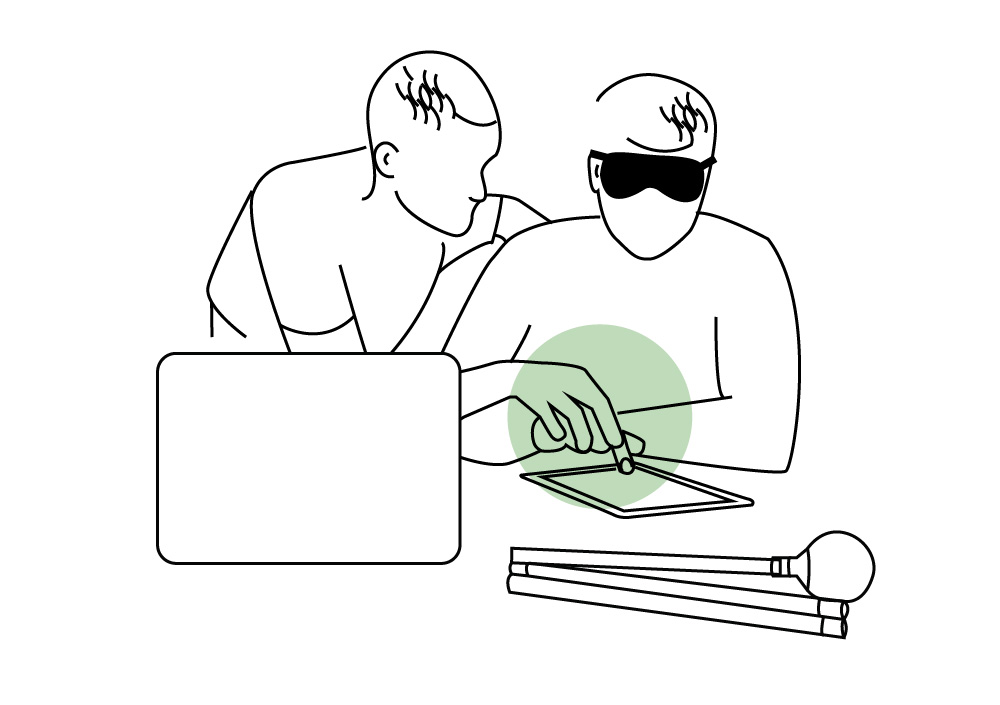 ateliers découverte de vos outils utilisés par des non-voyants